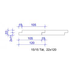 22x120 FALSPANEL 15/15 TÄT 4020 GRUNDM L=