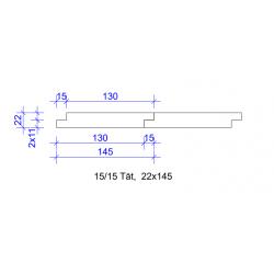 22x145 FALSPANEL 15/15 TÄT 4020 GRUNDM L=