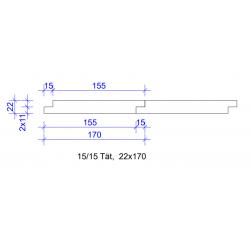 22x170 FALSPANEL 15/15 TÄT 4020 L=
