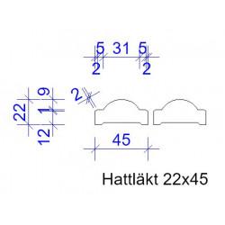 22x45 HATTLÄKT L=