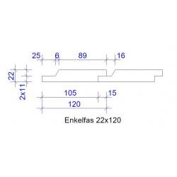 22x120 ENKELFAS FALS GRUNDM L=