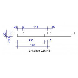 22x145 ENKELFAS FALS GRUNDM L=