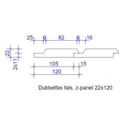 22x120 DUBBELFAS FALS L=