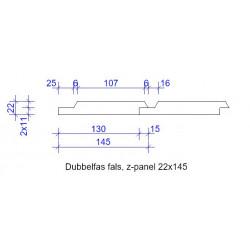 22x145 DUBBELFAS FALS L=