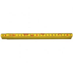Meterstock 1m g59-1-10 gul gla