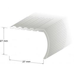 Trappnos nr15 aluminium 29x29mm 100cm