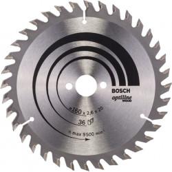 Cirkelsågklinga optiline 160x20/16mm t36