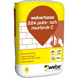 Puts&murbruk base 224 c 20kg