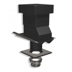 Ventilationshuv 1-kanal 2-kupig svart 160/125