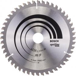 Cirkelsågklinga kap/ger 216x30mm t48
