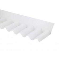 Vägganslutning esslon opalvit Plasttak korrugerad 75/20
