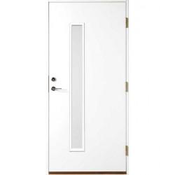 Ytterdörr stripe vit klarglas Höger 9x21