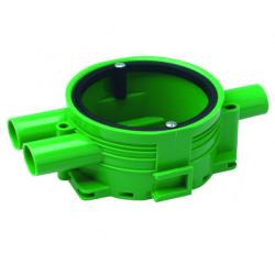 Apparatdosa ed-13 enkelgi grön