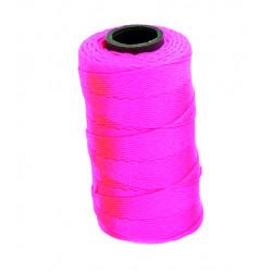 Murarsnöre polyester Neonrosa 120m