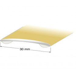 Skarvlist nr8 självhäftande Guld 30mm 100cm
