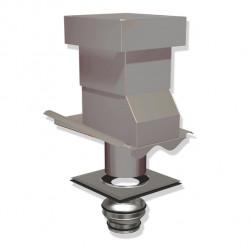 Ventilationshuv 2-kupig 1-kant Silver 160/125