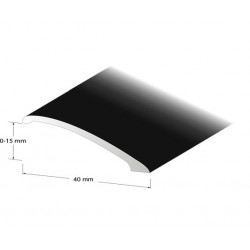 Nivålist svarteloxerad 0-10mm 100cm