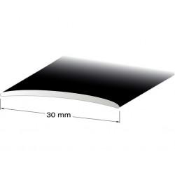 Skarvlist nr131 svarteloxerad 30mm 100cm