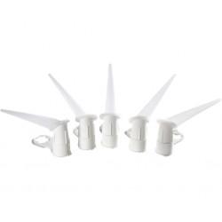 Plastmunstycke vinkel 5st
