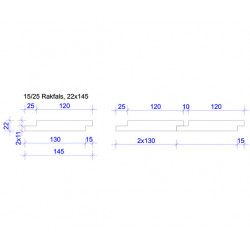 22x120 FALSAD SPÅRPANEL 15/25 L=3,0