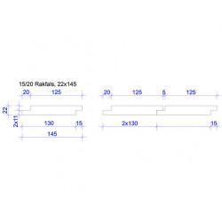 22x145 FALSPANEL 15/20 5MM SPRINGA GRUNDM L=