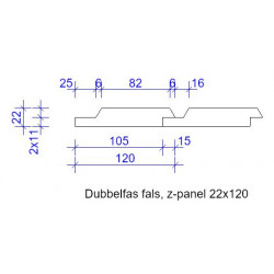 22x120 DUBBELFAS FALS GRUNDM L=