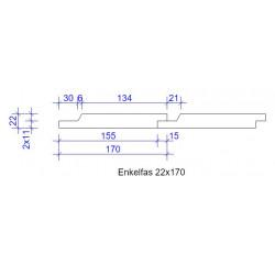 22x170 ENKELFAS FALS L=...