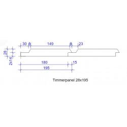 28x195 TIMMERPANEL FINS L=